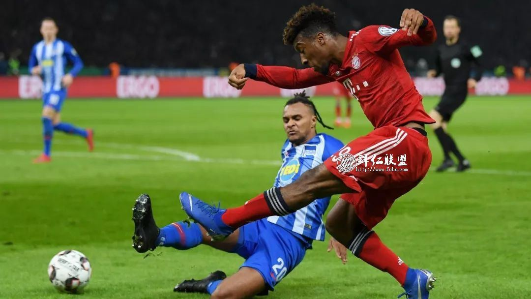 挺进德国杯八强 赫塔2:3拜仁 格纳布里两球 科曼加时制胜12