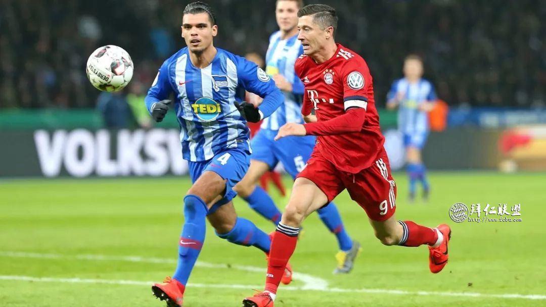 挺进德国杯八强 赫塔2:3拜仁 格纳布里两球 科曼加时制胜14