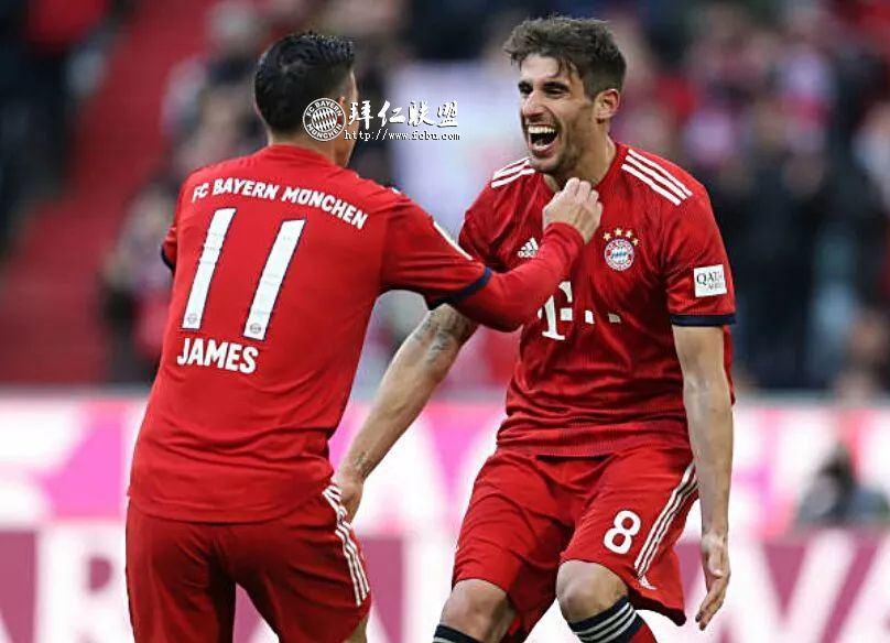 德甲第23轮 拜仁1:0赫塔 哈马破门 多赛一场追平多特1