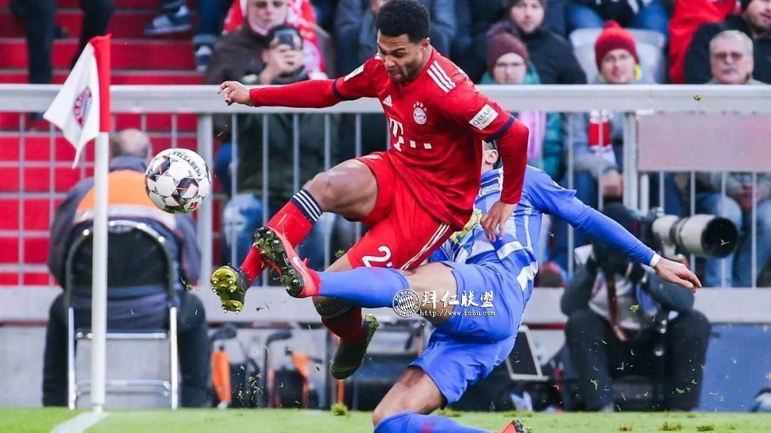 德甲第23轮 拜仁1:0赫塔 哈马破门 多赛一场追平多特3